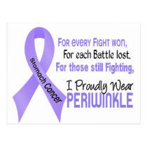 Stomach Cancer I Proudly Wear Periwinkle 1 Postcard