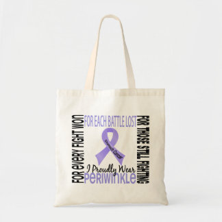 Stomach Cancer I Proudly Wear Periwinkle 2 Budget Tote Bag