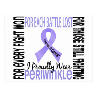 Stomach Cancer I Proudly Wear Periwinkle 2 Postcard