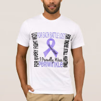 Stomach Cancer I Proudly Wear Periwinkle 2 T-Shirt