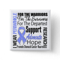 Stomach Cancer I Wear Periwinkle Ribbon TRIBUTE Pinback Button