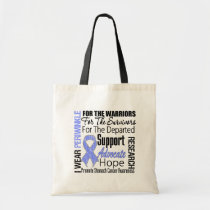 Stomach Cancer I Wear Periwinkle Ribbon TRIBUTE Tote Bag