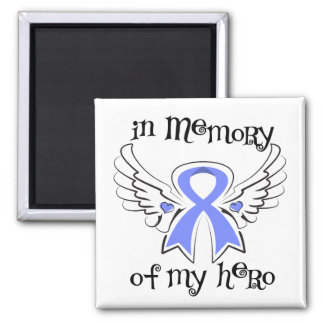 Stomach Cancer In Memory of My Hero 2 Inch Square Magnet