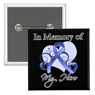 Stomach Cancer In Memory of My Hero Pinback Button