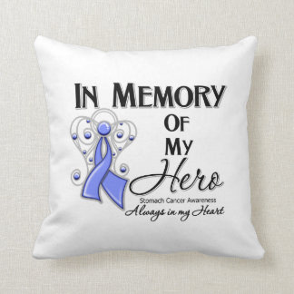 Stomach Cancer In Memory of My Hero Throw Pillow