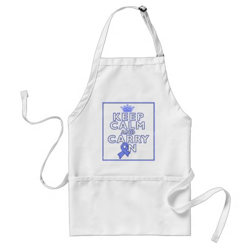 Stomach Cancer Keep Calm and Carry ON Apron