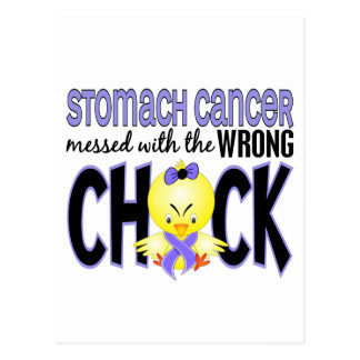 Stomach Cancer Messed With The Wrong Chick Postcard