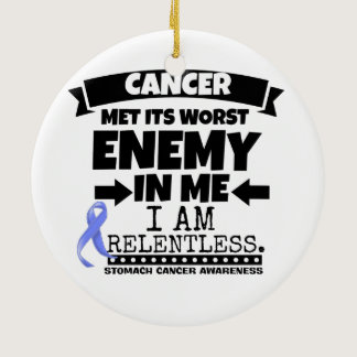 Stomach Cancer Met Its Worst Enemy in Me Ceramic Ornament