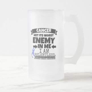 Stomach Cancer Met Its Worst Enemy in Me Frosted Glass Beer Mug