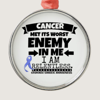 Stomach Cancer Met Its Worst Enemy in Me Metal Ornament