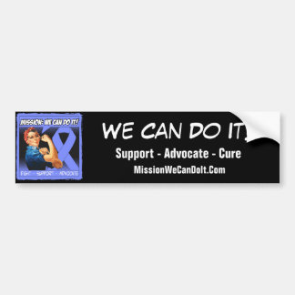 Stomach Cancer Mission We Can Do It Car Bumper Sticker