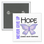 Stomach Cancer Never Give Up Hope Butterfly 4.1 Pin
