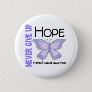 Stomach Cancer Never Give Up Hope Butterfly 4.1 Pinback Button