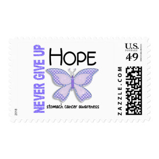Stomach Cancer Never Give Up Hope Butterfly 4.1 Postage Stamp