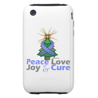 Stomach Cancer Peace Love Joy Cure iPhone 3 Tough Cover