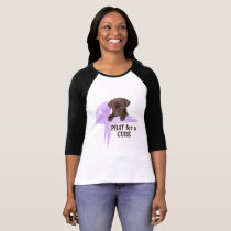 Stomach Cancer | Periwinkle Cancer Ribbon T-Shirt