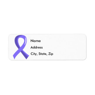 Stomach Cancer Periwinkle Ribbon 3 Label