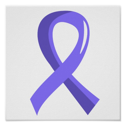 Stomach Cancer Periwinkle Ribbon 3 Poster