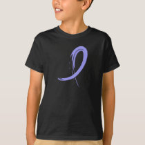 Stomach Cancer Periwinkle Ribbon A4 T-Shirt