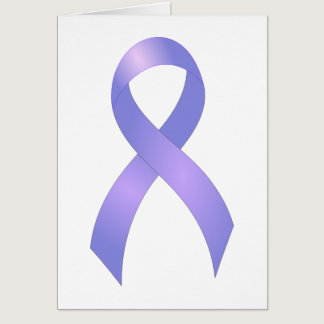 Stomach Cancer Periwinkle Ribbon Card