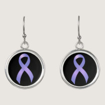 Stomach Cancer Periwinkle Ribbon Earrings