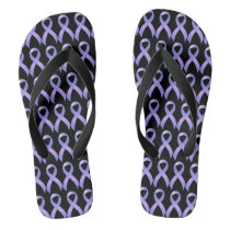 Stomach Cancer Periwinkle Ribbon Flip Flops