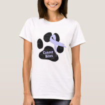 Stomach Cancer | Periwinkle Ribbon | Puppy Paw T-Shirt