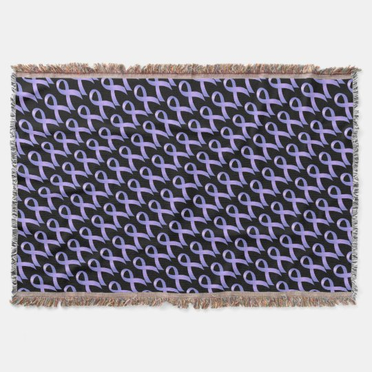 Stomach Cancer Periwinkle Ribbon Throw Blanket Zazzle Best Periwinkle Throw Blanket