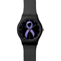 Stomach Cancer Periwinkle Ribbon Wrist Watch