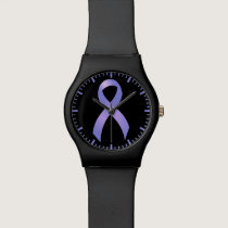 Stomach Cancer Periwinkle Ribbon Wristwatches