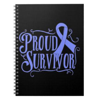 Stomach Cancer Proud Survivor Spiral Note Book