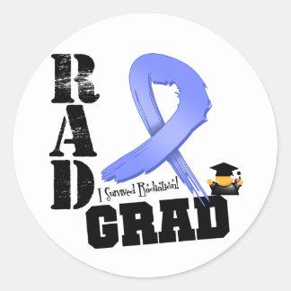 Stomach Cancer Radiation Therapy RAD Grad Classic Round Sticker