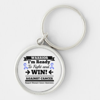 Stomach Cancer Ready To Fight and Win Silver-Colored Round Keychain