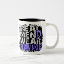 Stomach Cancer Real Men Wear Periwinkle Two-Tone Coffee Mug