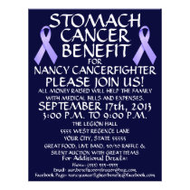 Stomach Cancer Ribbon Benefit Flyer