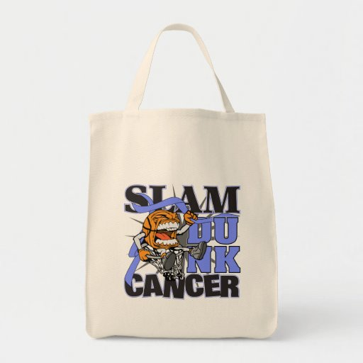 Stomach Cancer - Slam Dunk Cancer Tote Bags