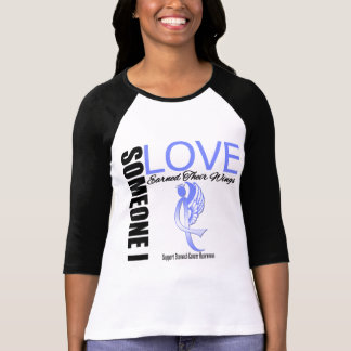 Stomach Cancer Someone I Love Earned Their Wings Tee Shirt