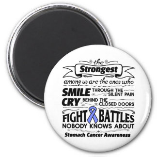 Stomach Cancer Strongest Among Us 2 Inch Round Magnet
