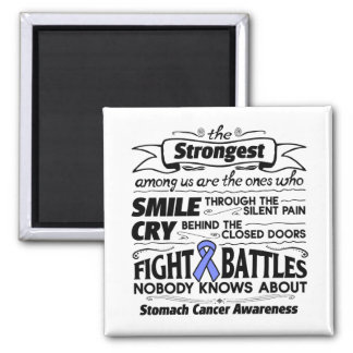 Stomach Cancer Strongest Among Us 2 Inch Square Magnet