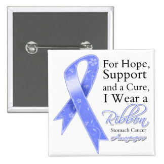 Stomach Cancer Support Hope Awareness 2 Inch Square Button