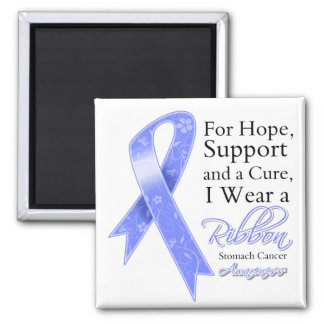 Stomach Cancer Support Hope Awareness 2 Inch Square Magnet