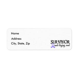 Stomach Cancer Survivor 18 Label