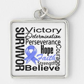 Stomach Cancer Survivor Collage Keychain