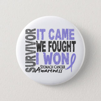 Stomach Cancer Survivor It Came We Fought I Won Button