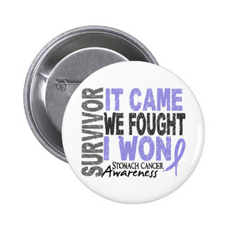 Stomach Cancer Survivor It Came We Fought I Won 2 Inch Round Button