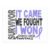 Stomach Cancer Survivor It Came We Fought I Won Postcard
