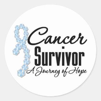 Stomach Cancer Survivor Journey Ribbon Round Sticker