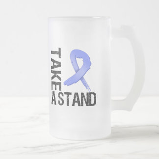 Stomach Cancer Take A Stand 16 Oz Frosted Glass Beer Mug