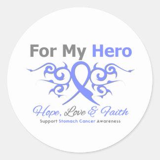 Stomach Cancer Tribal Ribbon Hero Classic Round Sticker