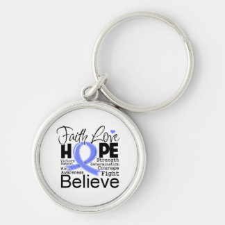 Stomach Cancer Typographic Faith Love Hope Keychains